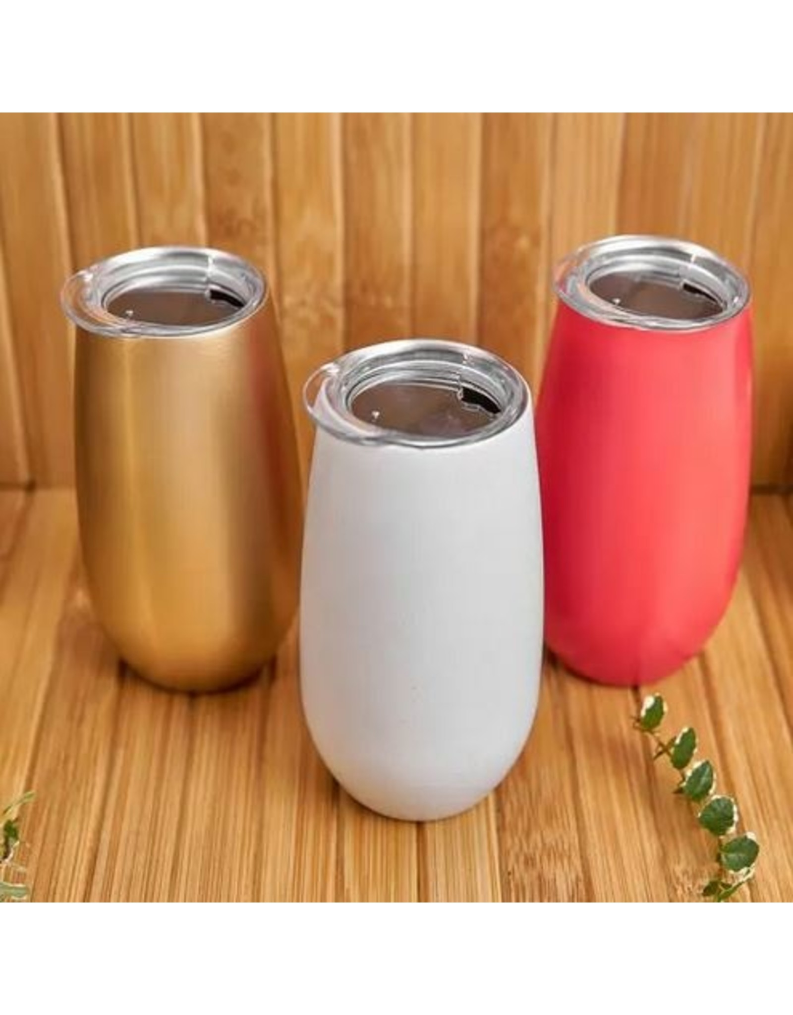 Stainless Steel Champagne Glasses