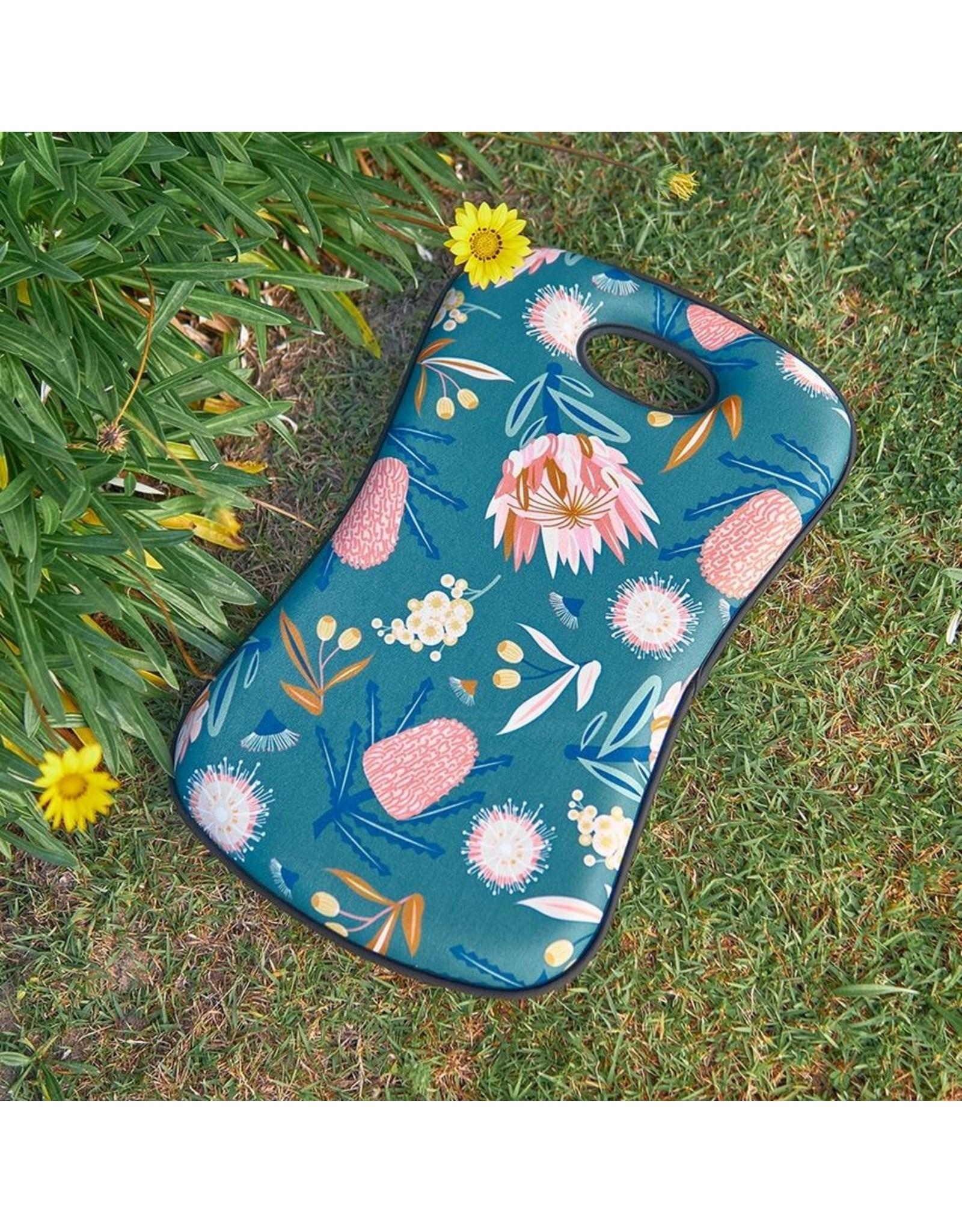 Kneeling Mat Australian Flora Khaki