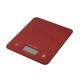 Accura Atlas Electronic Kitchen Scale 5kg/1g Red