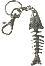 PEWTER KEY RING - FISH BONE