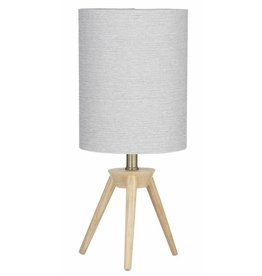 Amalfi Willow Table Lamp Timber & Grey