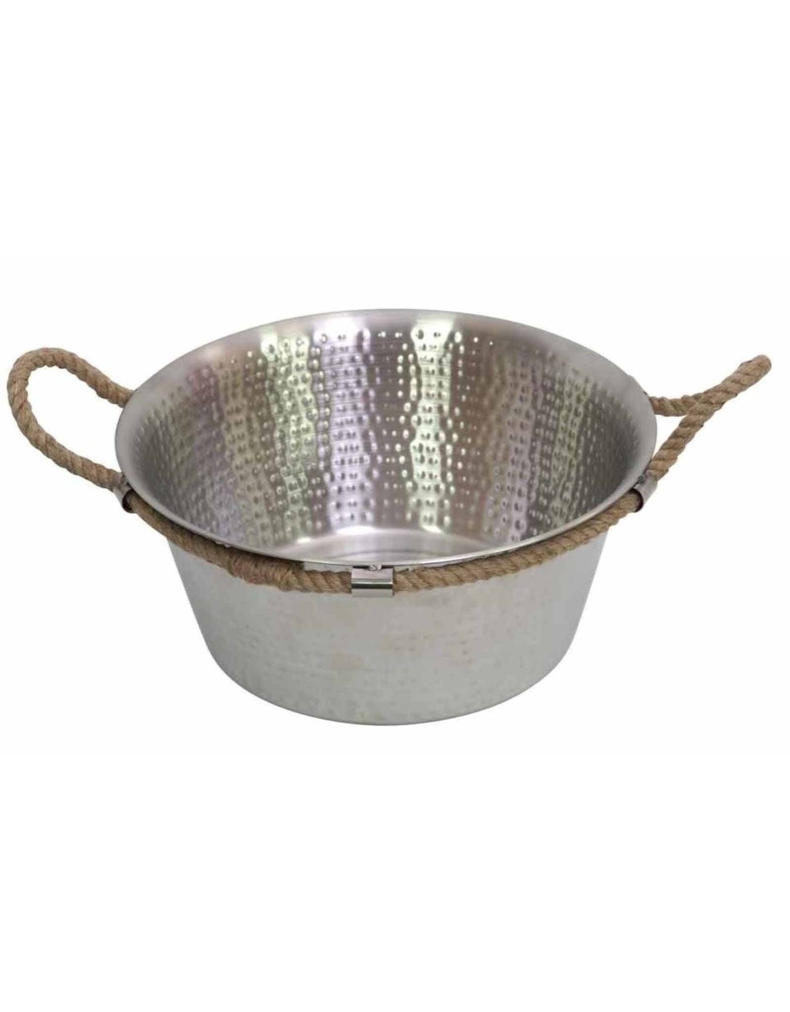 Drift Entertaining Bowl w/ Handles 38x38x15cm Silver