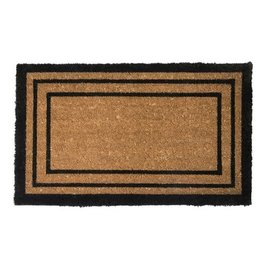 Luxury Coir Black Border Door Mats