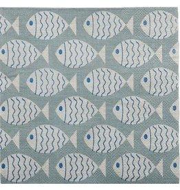 Denim Coastal Fish Napkins 3ply