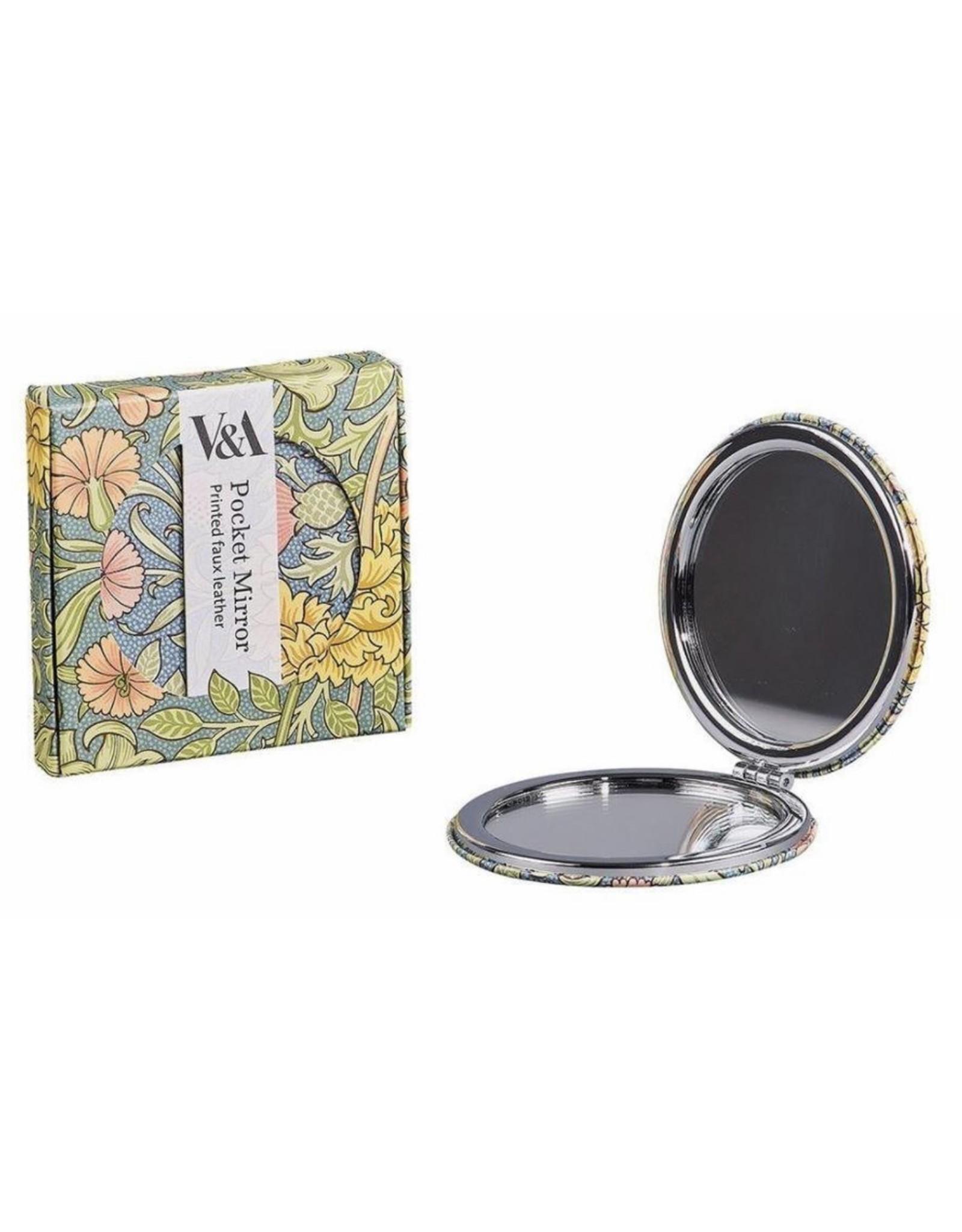 Victoria & Albert Museum V & A Compact Mirror with Designer Vintage Print