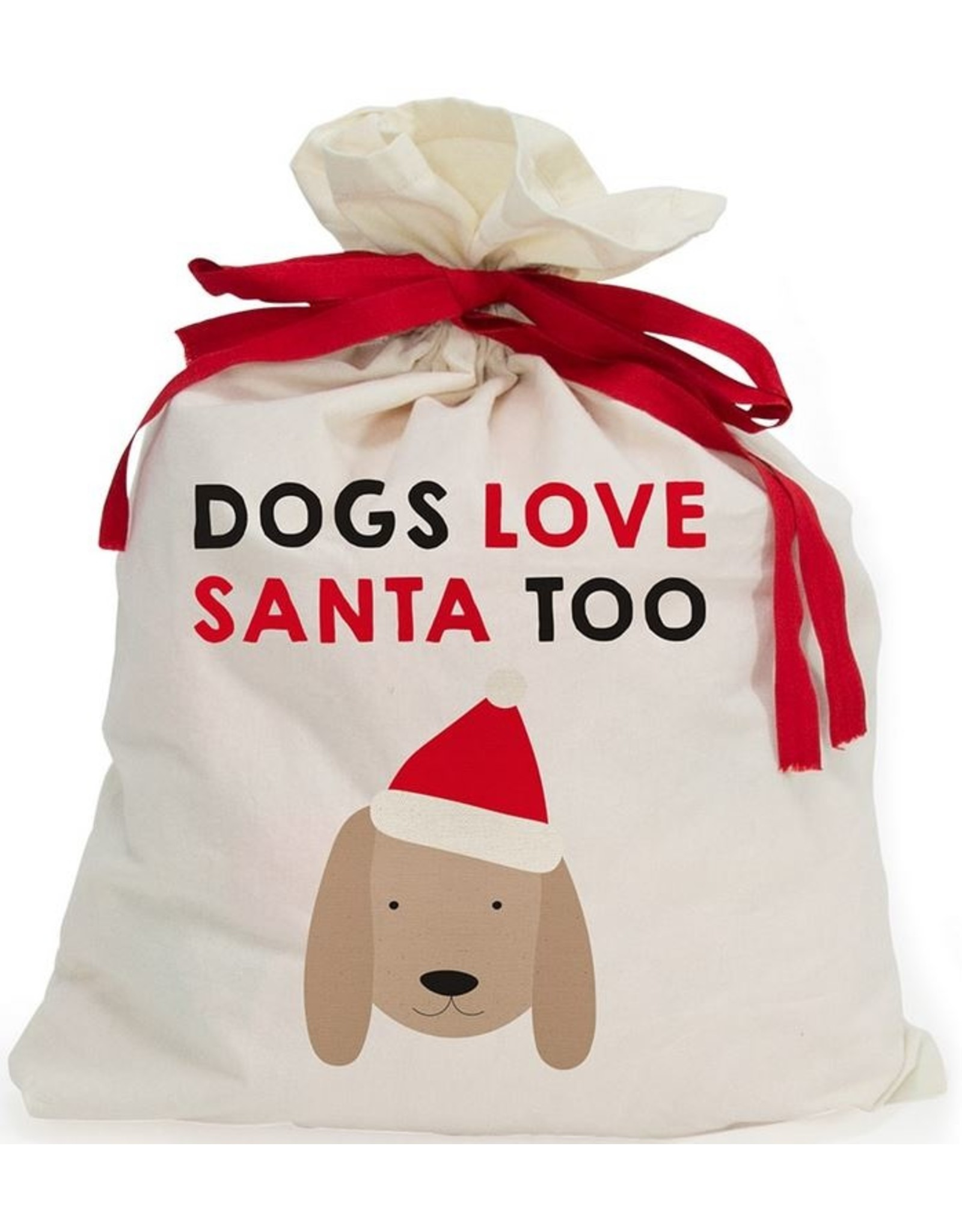 Santa Sack – Canvas – Dogs Love Santa