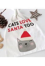 Santa Sack – Canvas – Cats Love Santa