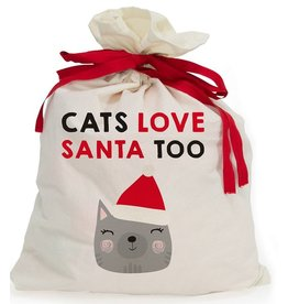 Santa Sack – Canvas – Cats Love Santa