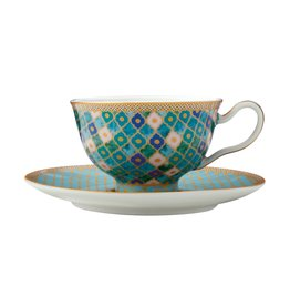 Kasbah 200ml Cup & Saucer Mint