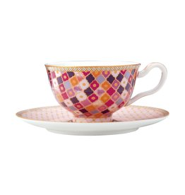 Kasbah 200ml Cup & Saucer Rose