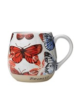 Robert Gordon Robert Gordon Bromley Hug Me Mug Red Butterflies