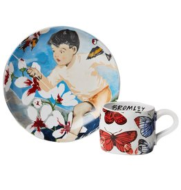 Robert Gordon David Bromley Gift Boxed Childrens Plate & Cup - the Butterfly Catcher