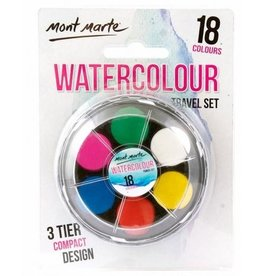 Mont Marte Mont Marte Watercolour Travel Set 18pc