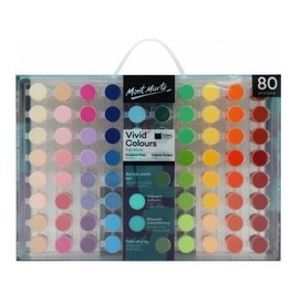 Mont Marte Vivid Colours Acrylic Paint Set 80pc