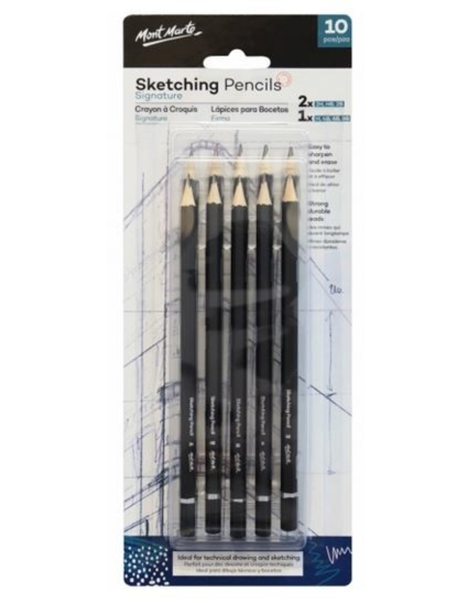 MM Sketching Pencils 10pc