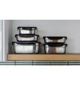Lock & Lock Food Safe Stainless Steel Storage Containers