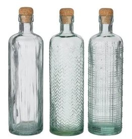 Eco Glass Bottles with Cork Stoppers
