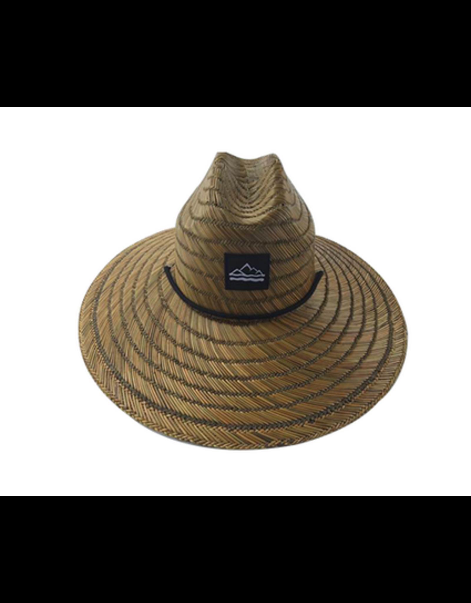 Hand Weave Natural Rush Straw Hat