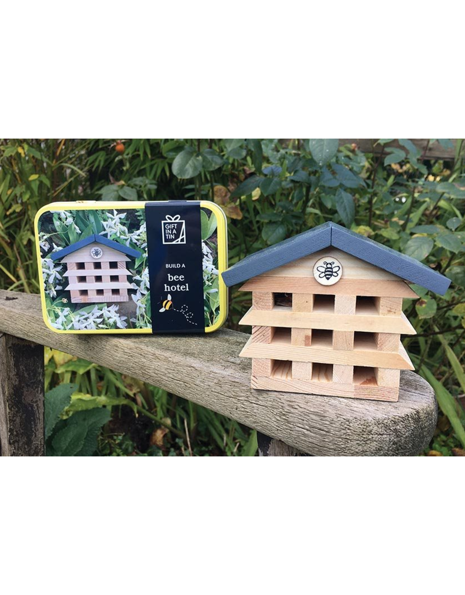 Apples to Pears Build a Bee Hotel in a Tin