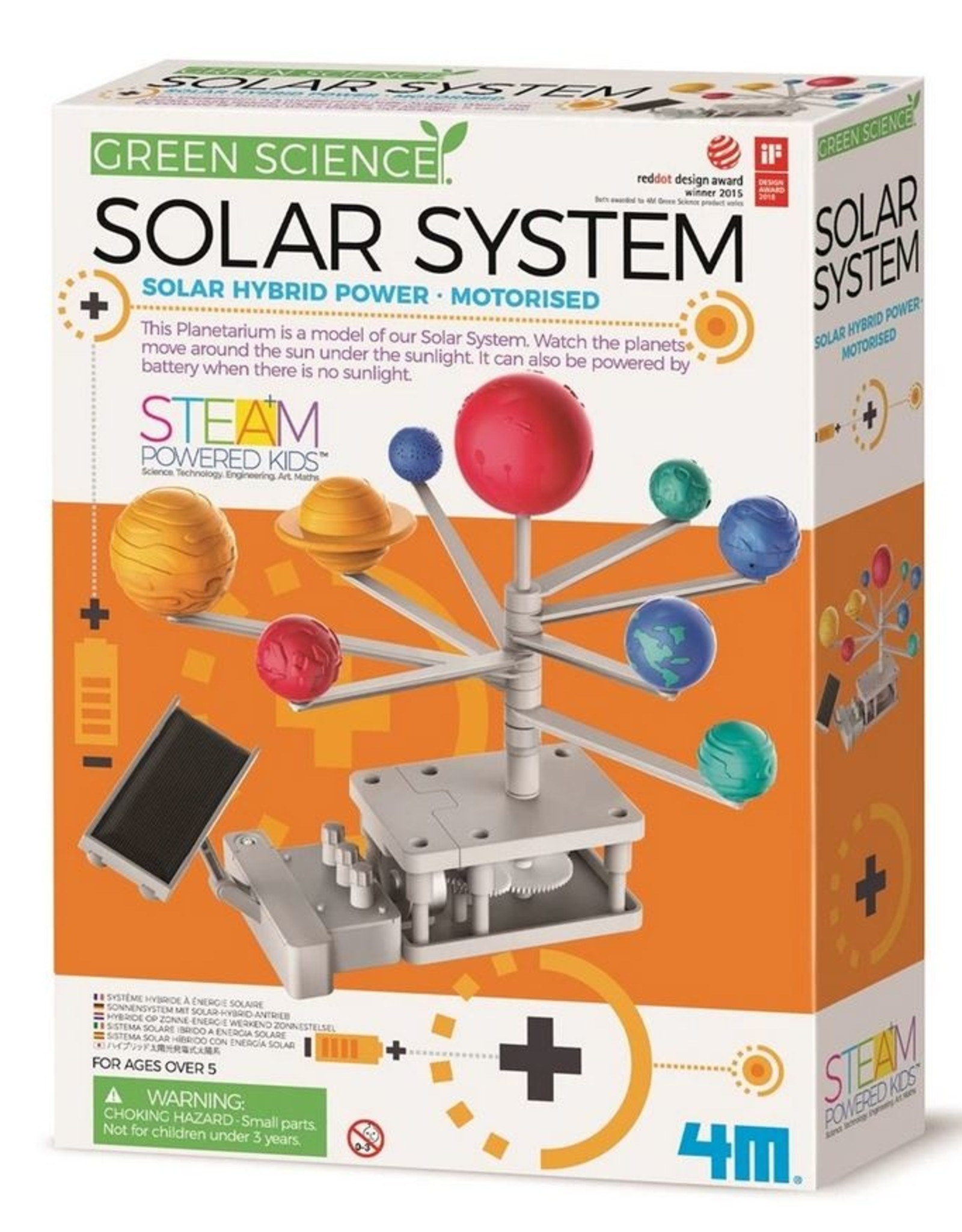 4M GREEN SCIENCE SOLAR SYSTEM TOY
