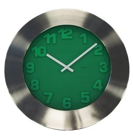 Degree Degree Emerald 50cm Nickel Steel Clock
