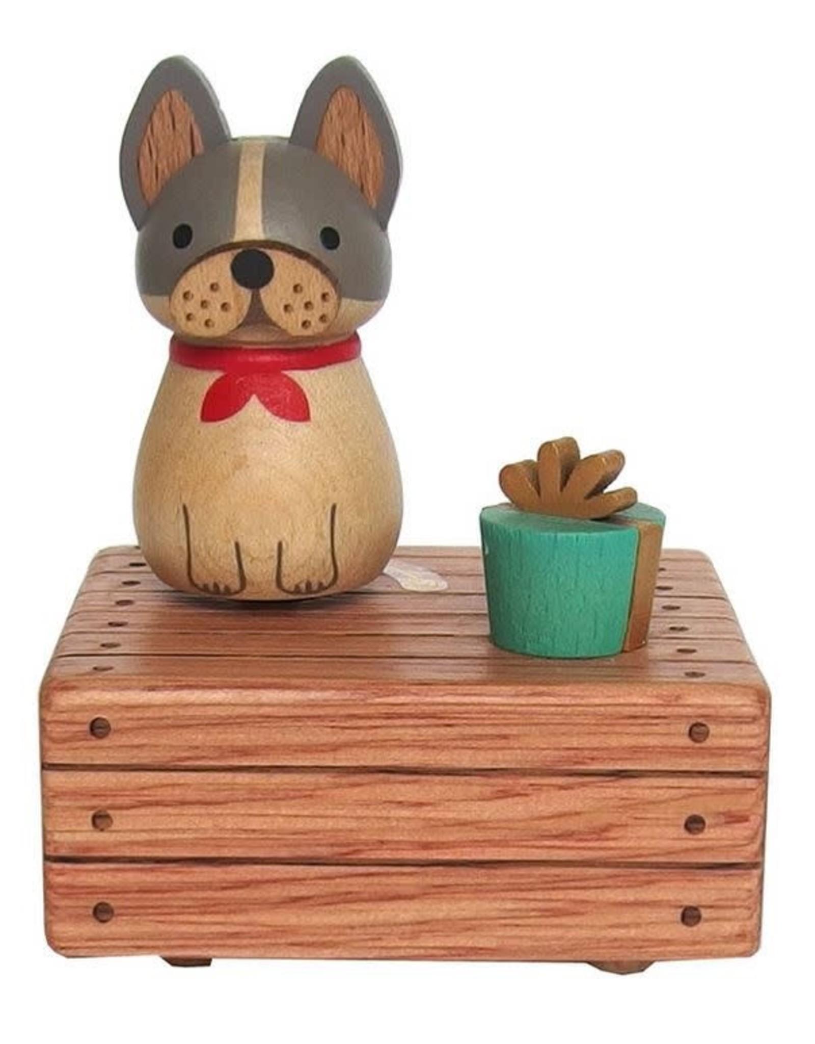 Wooderful Life Bulldog Mini Music Box