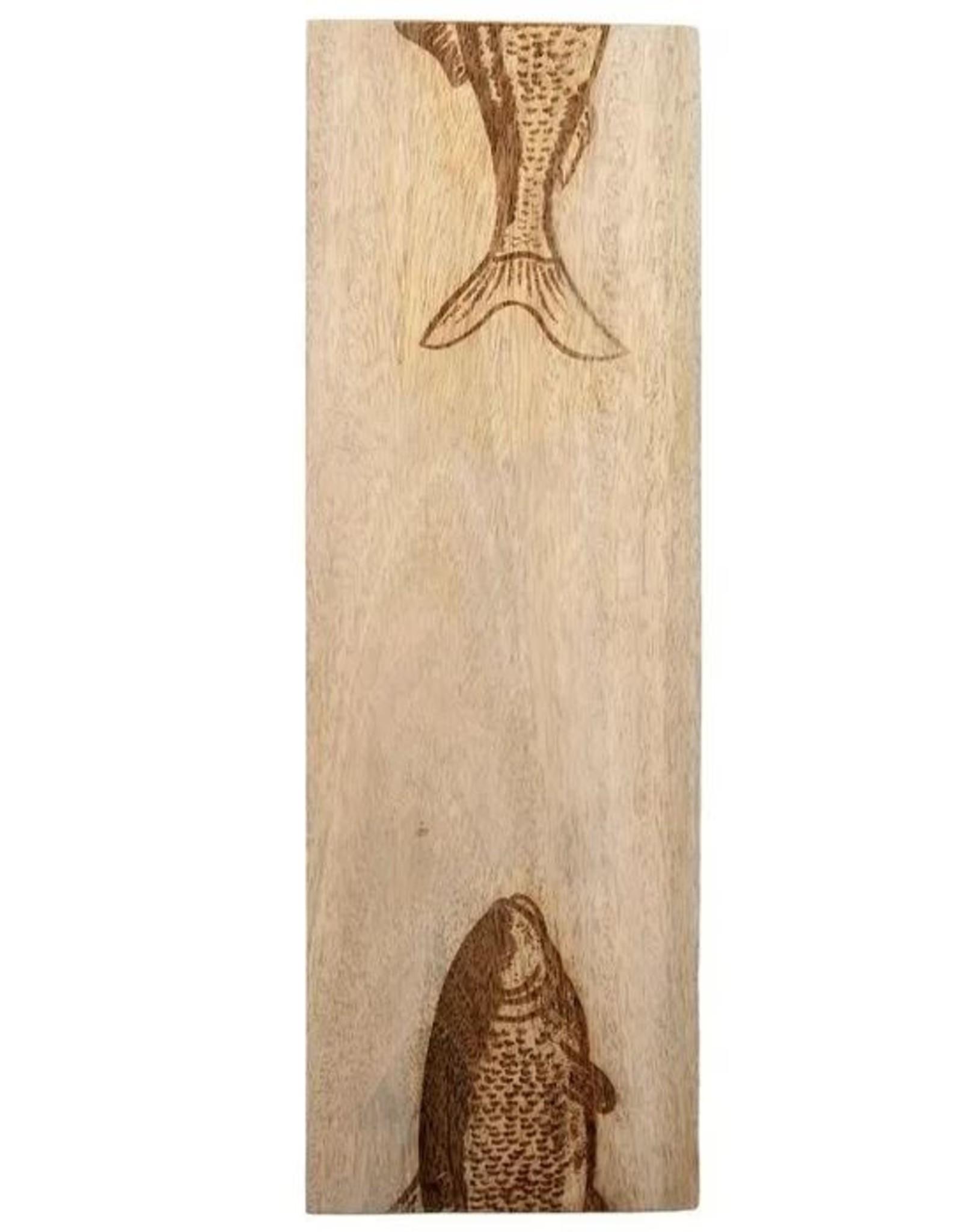Ahoy Fish Serving Board Natural 15 x 45cm