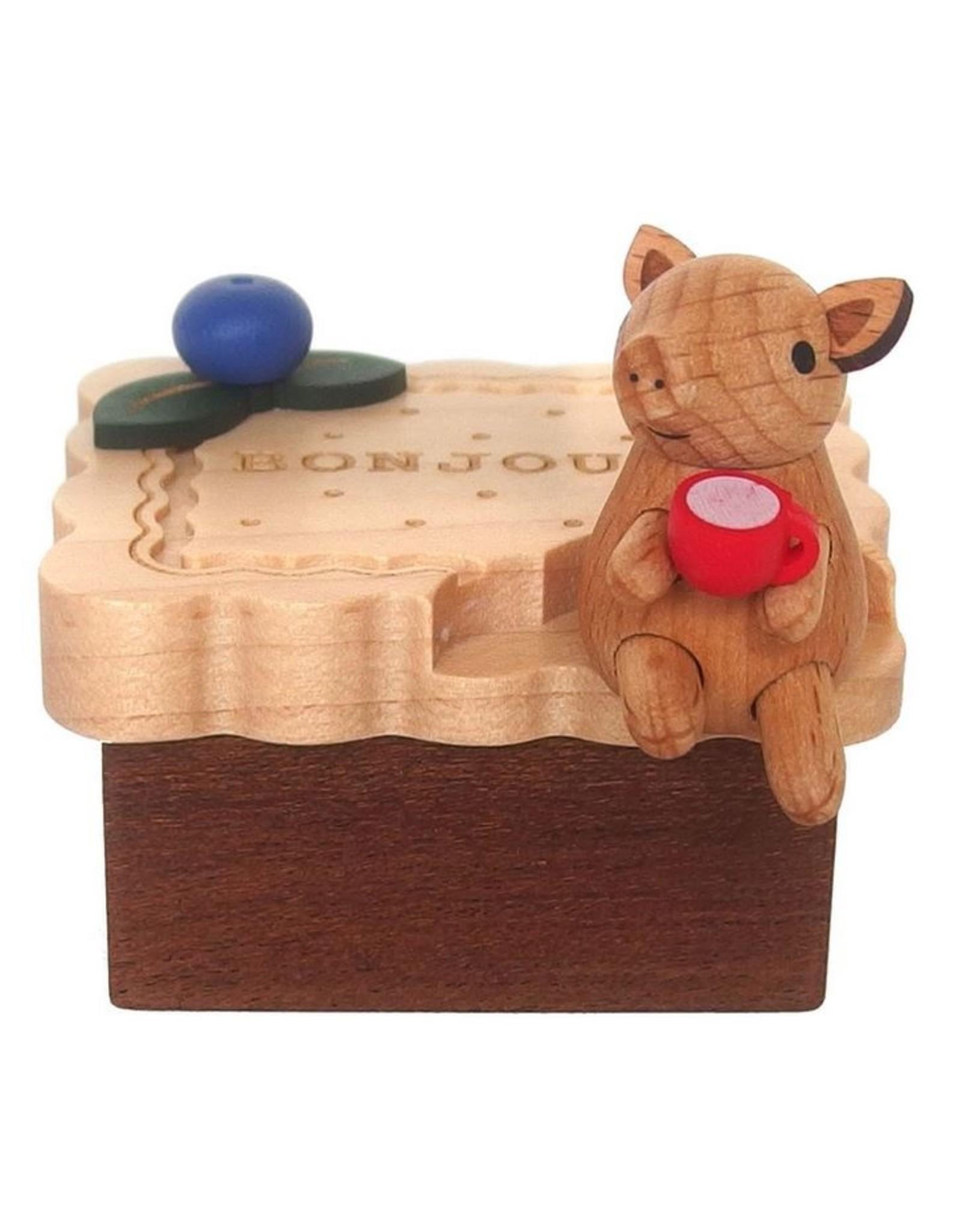 Wooderful Life Biscuit Pig Mini Music Box