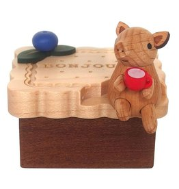 Wooderful Life Biscuit Pig Mini Music Box