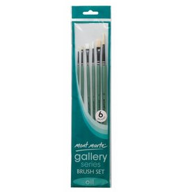 Mont Marte Mont Marte Gallery Series 6 x Flat Oil Brushes