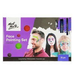 Mont Marte Mont Marte  Face Painting Set Premium 21 Pc