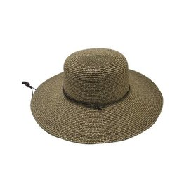 Paper Braid Wide Brim Sun Hat with Neck Tie