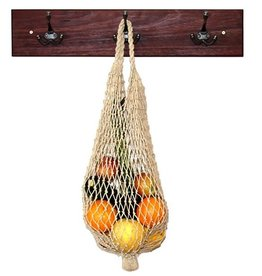 Hand -Knotted Light Natural Hemp String Bag