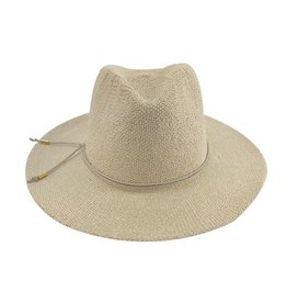 Womens Hand Knit Paper Straw Panama Hat