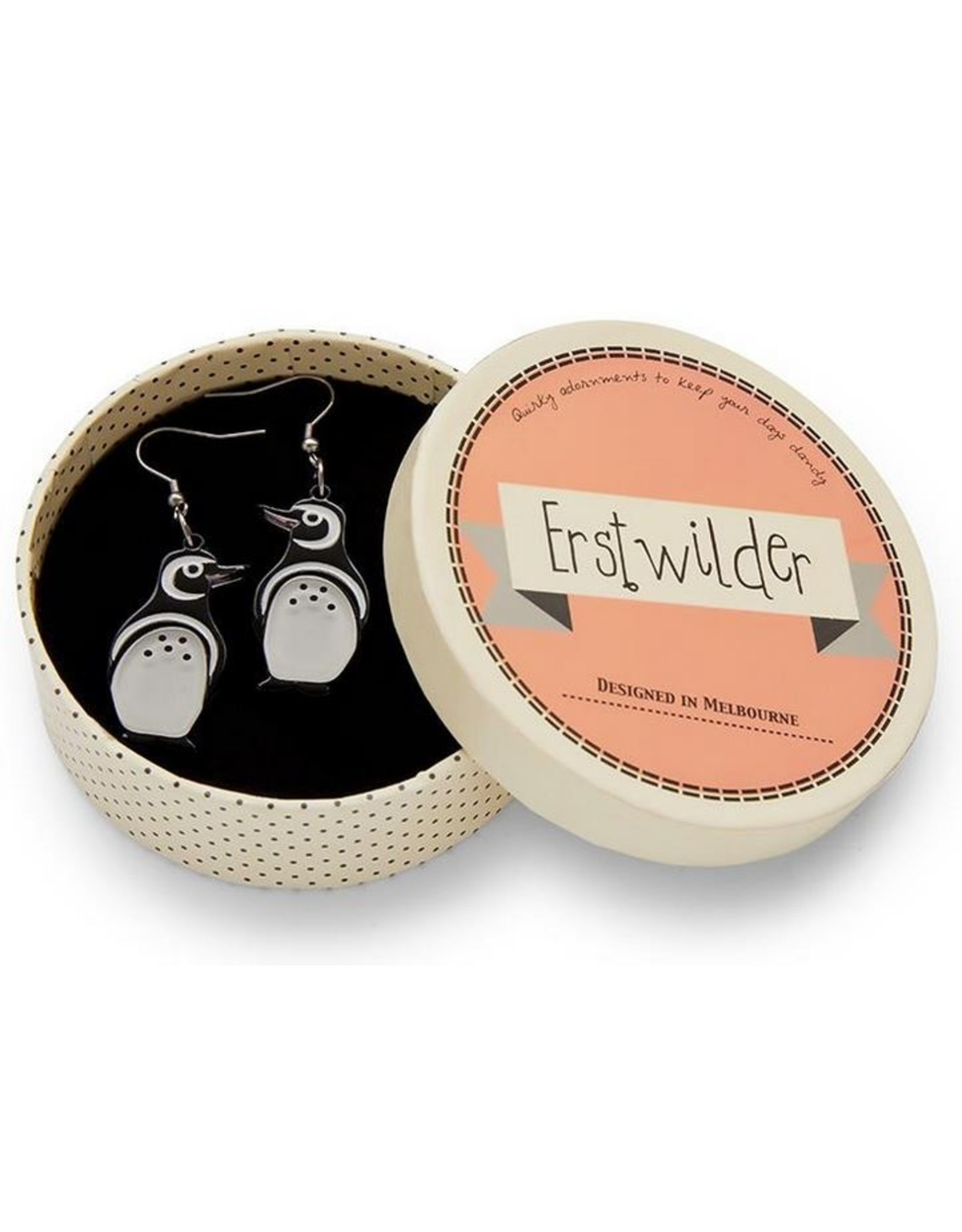 Erstwilder Northside Wanderer Penguin Earrings
