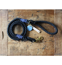 Ted & Patrick Midnight Heavy Duty Dog Lead with Brass Fittings