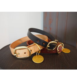 Ted & Patrick Hand Made Leather Dog Collar