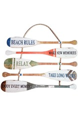 Beach House Signs Boat Paddle Rules