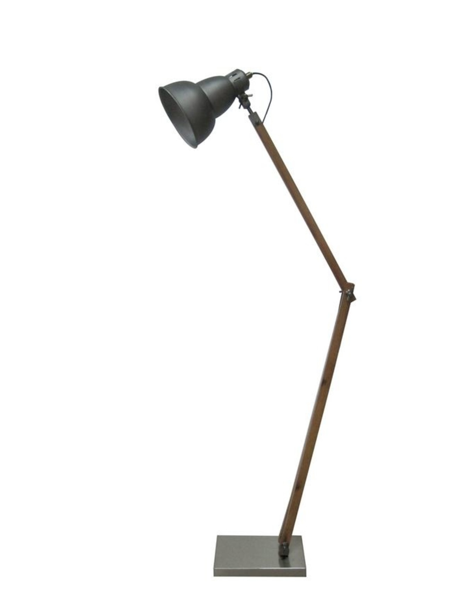 Timber and Metal Lamp