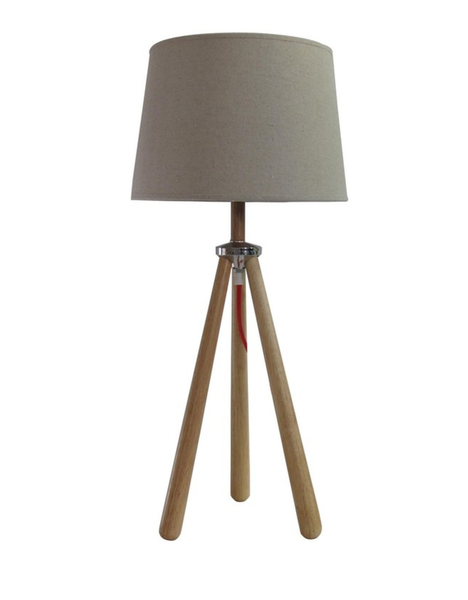Timber Lamp with Shade on Three Timber Legs