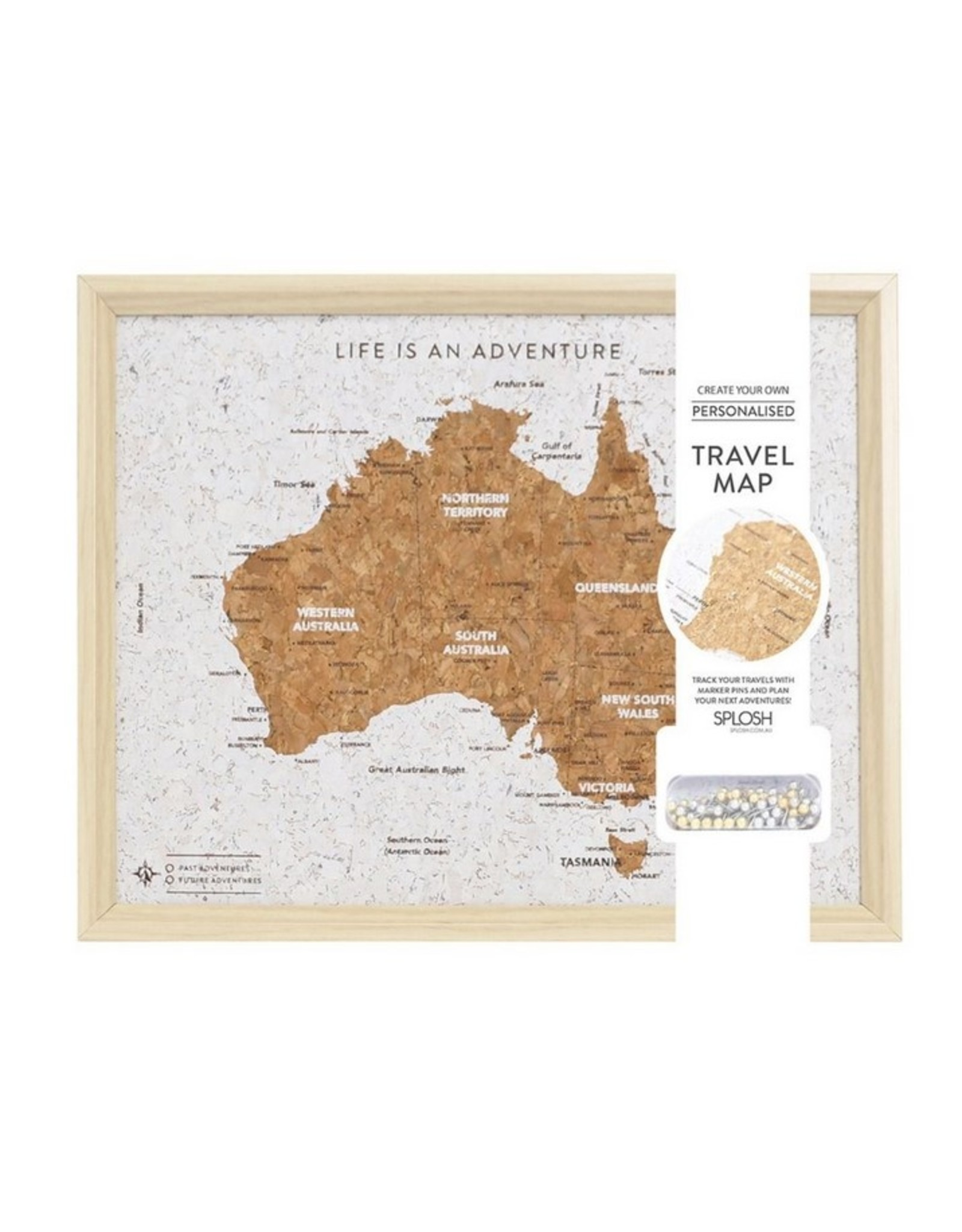 Travel Board Australia Map Desk