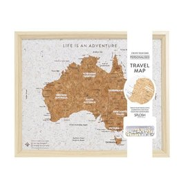 Travel Board Australia Map Desk