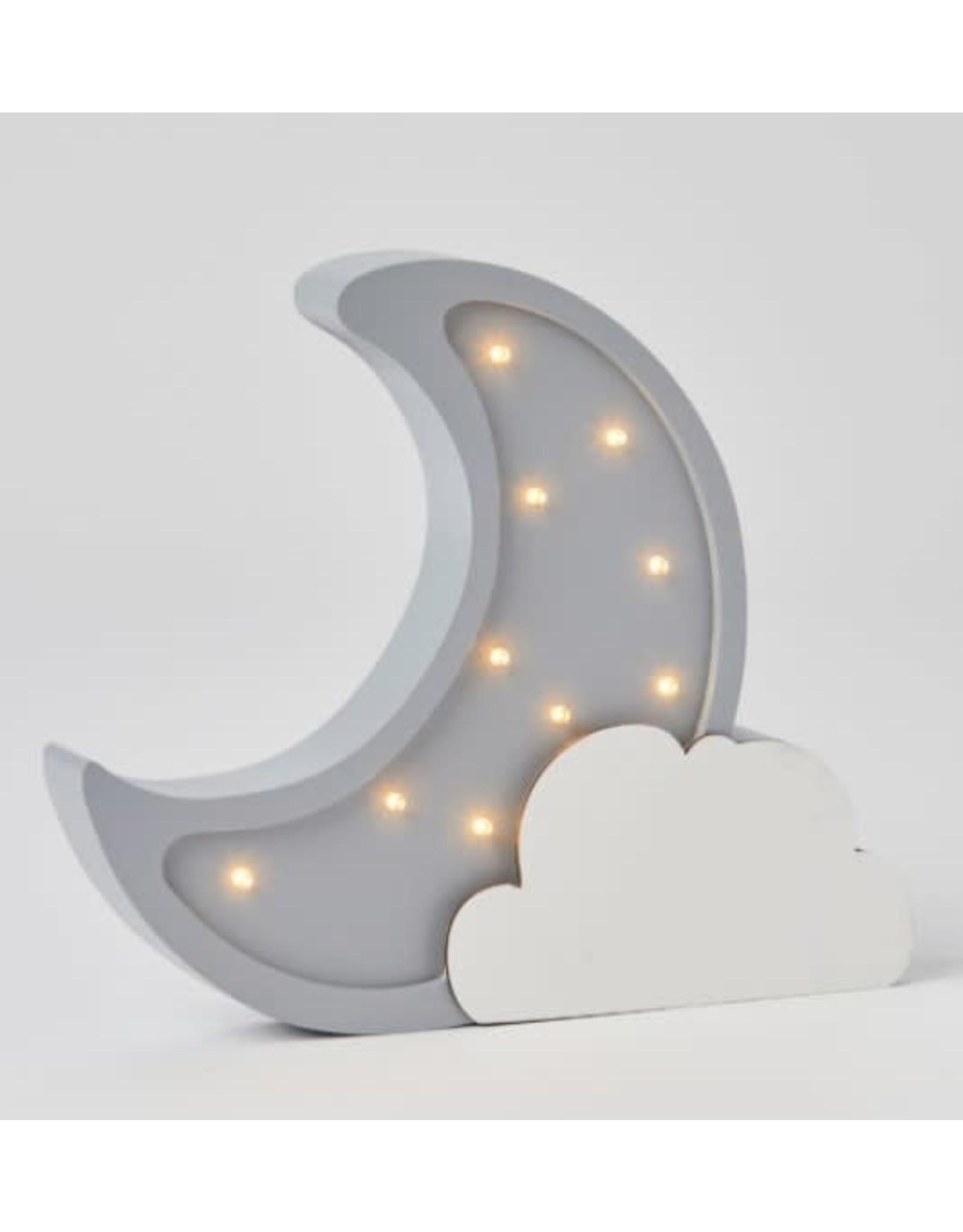 Pilbeam Living Wooden Light Moon