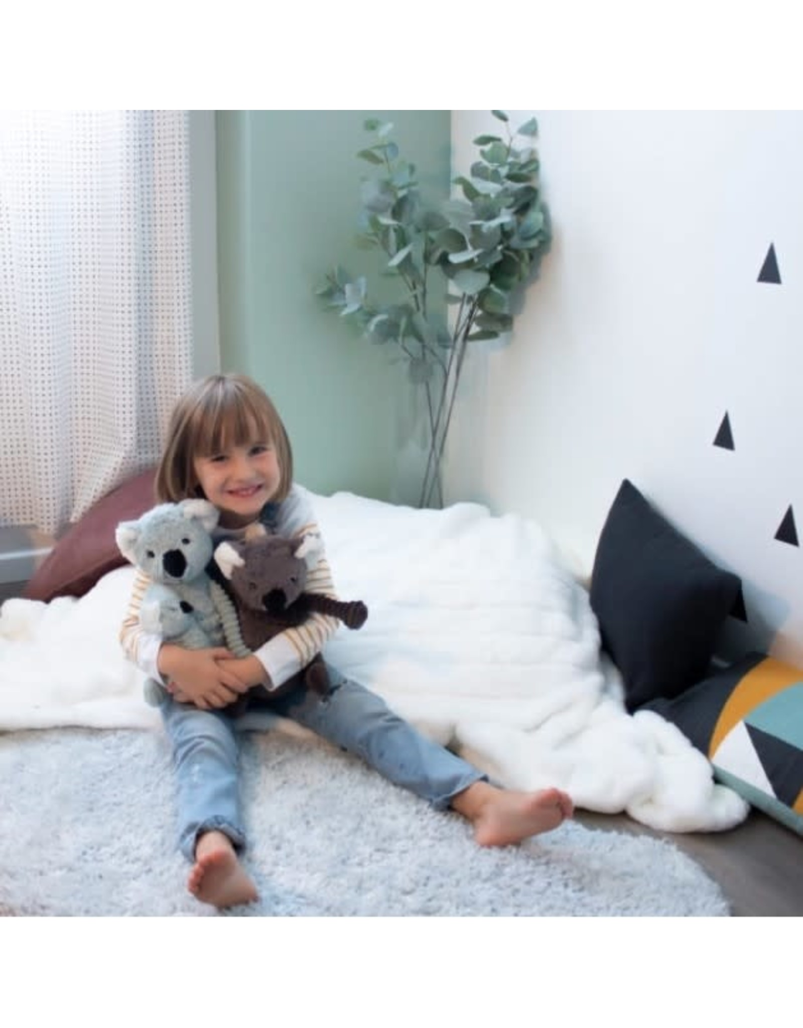 Les Déglingos Ptipotos Grey Koala Mum & Baby
