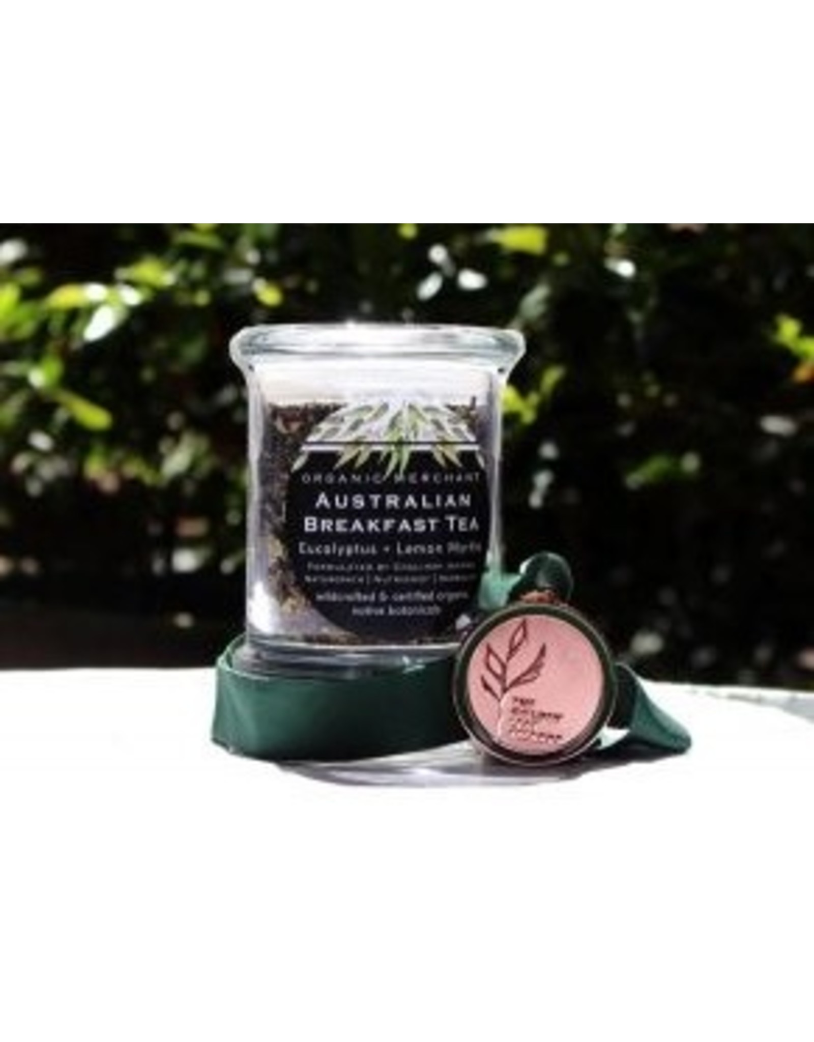 Organic Merchant Australian Breakfast Tea Glass Jar
