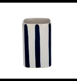 Hastings Ceramic Cup 7x11cm White/Navy
