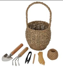 Peggy Garden Tools Set w Basket 14x28cm