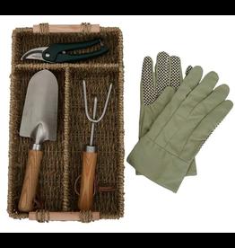 Abro Peggy Garden Tools w Basket 37x22cm