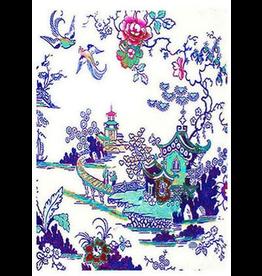 Anna Chandler Design Tea Towel – Willow Pattern Blue