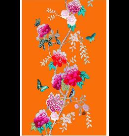 Anna Chandler Design Tea Towel – Tangerine Bird